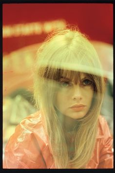Jean Shrimpton shot by Saul Leiter for a British Vogue beauty story on 'red' make-up. August, 1966. #TheShirtCompany