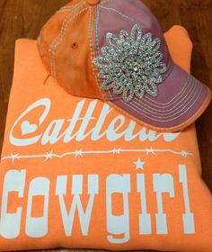 Cattlelac Cowgirl Creamsicle Hoodie Small~4X