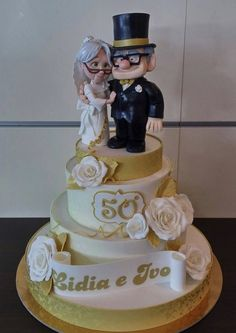 Fabulous Disney Up 50th Wedding Anniversary Cake made by Dolce Favola
