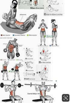 workout routine ab exercises Combine these exercises with the best clenbuterol alternatives for getting ripped abs, get shredded abs, how to burn fat, how to get shredded abs Gym Workout Chart, Gym Workout Tips, Abs Workout Routines, Weight Training Workouts, Biceps Workout, Ab Workout At Home, Fitness Workouts, At Home Workouts, Ab Workout With Weights