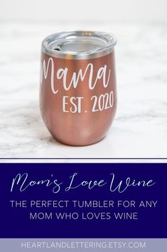 The perfect tumbler for any mom! It'll keep her wine cold throughout the day. The tumbler and vinyl comes in a variety of colors. The year is customizable to when mom became a mom! Tumbler Mom Cups - Tumbler Gift - Mom Wine Tumbler - Mom Wine Cups - New Mom Gift - Wine Lover Gifts