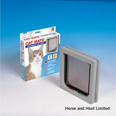 Cat Mate Cat Flap 2 Way Locking Cat Flap - Small Cat Mate Cat Flap 2 Way Locking Cat Flap does not have a trimmable liner like the medium but has a depth of 25 mm which is suitable for a wide range of doors.