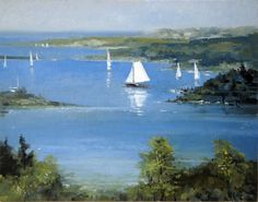 Painting by Paul Hamilton on view at the  North Water Gallery, Martha's Vineyard