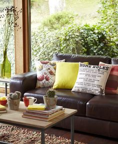 Modern western style living room setting | Spring/summer interior trends 2015