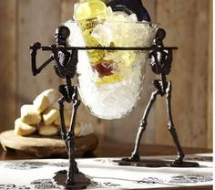 This Skeleton Serving Bowl is an Eerie Addition to Any Party trendhunter.com