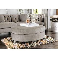 Copper Grove Brezovo Contemporary Grey Oval Ottoman