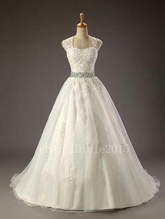Elegant White/Ivory Wedding Dress Bridal Ball Gown Custom Size6-8-10-12-14-16++