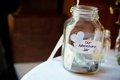Our UP inspired wedding adventure jar.