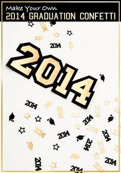 Make 2014 graduation confetti and party decor