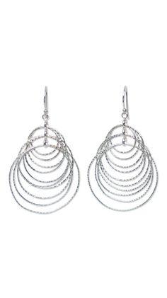 Sterling silver dangle earrings 'Hoopla'