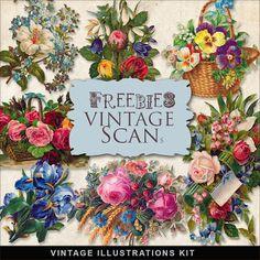 Freebies Vintage Flower