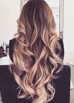 light sombré curls
