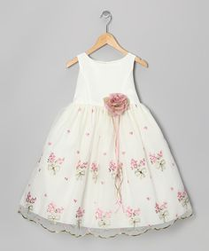 Ivory & Rose Embroidered Floral Dress - Infant, Toddler & Girls | Daily deals for moms, babies and kids
