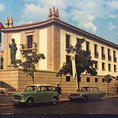 #Postcrossing card 15 is from #portugal #castelo #branco #castelobranco #vintagecar #streetphoto #snailmail #postcard #postcardsfromtheworld