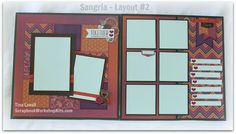 Scrapbooking Kits: Sangria 6 Page Scrapbook Kit - SOLD OUT