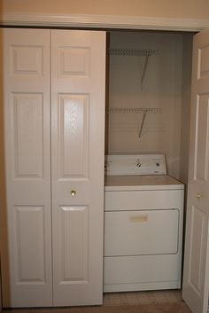 Gotta hide the washer and dryer. But I'd really want to paint that door!