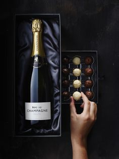 Champagne and truffles gift box by smithandvillage.com