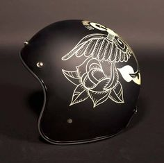 half shell motorcycle helmets custom painted old school - Google Search