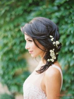 Свадебные прически на среднюю длину волос (часть 2)
