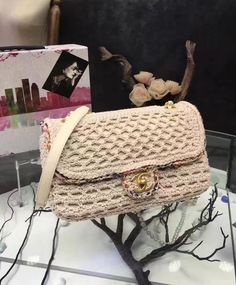 #Chanel Crochet flap bag A93680. 2017 Spring/ Summer Chanel Bag Collection.