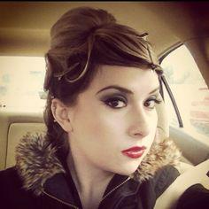Pinup hair I did. Makeup by MAC.