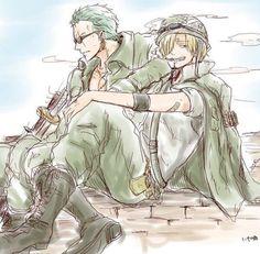 Roronoa Zoro & Sanji