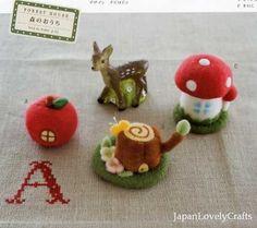Kawaii Petit Zakka Goods of Needle Wool Felt  di JapanLovelyCrafts, $17.00
