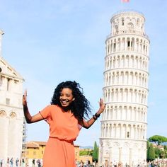 We all need somebody to lean on. @iamabyssinia // Pisa Italy. #travelnoire #pisa