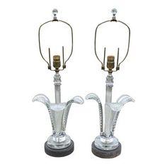 Art Deco Grosfeld House Plume Lamps, A Pair