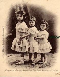 The Little Three:  Princess Antonia, Princess Elisabeth, and Princess Sophie.