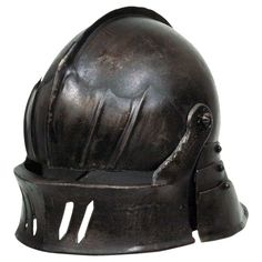 Armor Venue - Gothic Sallet Helmet - Dark Metal Finish - Metallic - Medium Armour