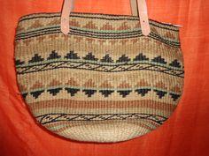 Vintage Handtaschen - Tasche*Vintage*Korbtasche*bast*braun*Erdtöne* - ein Designerstück von SweetSweetVintage bei DaWanda
