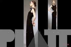 Sleeveless Formal Gown Matte Black Jersey-TOM AND LINDA PLATT