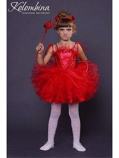 Купить карнавальный костюм дьяволёнка, чертёнка - ярко-красный, костюм дьяволёнка, костюм чертёнка