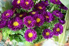 Pumpkin Flower Arrangement {Thanksgiving Centrepiece} - Life at Cloverhill Pumpkin Centerpieces, Thanksgiving Centerpieces, Wedding Centerpieces, Fall Floral Arrangements, Christmas Arrangements, Fall Flowers, Purple Flowers, Big Flowers, Rehearsal Dinner Cake