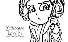 Lovely Princess Leia Coloring Page