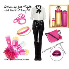 Dress up for night, and make it bright! Colour blocking and neons for night., created by barbie6689 on Polyvore