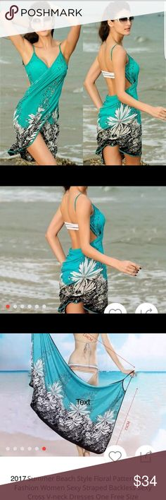 """NEWFree Style """" One Size Wrap Dress WRAP DRESS-  Resort/ Spring Break Great Bathing Suit  Cover-Up. Dimensions Are:    Length is 134Cm     Width is 74 Cm .           ✨✨please be sure to measure yourself!! ✨✨ Accessories Scarves & Wraps"""