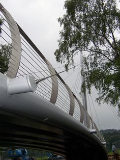 Trentham Gardens Footbridge Balustrade with Structural Support Cables