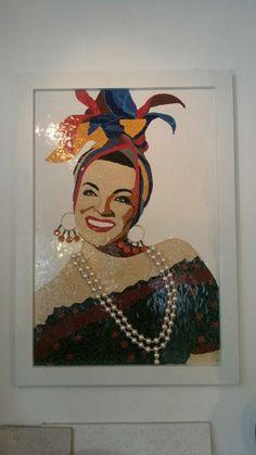 Mosaicos Portella | Arte & Decoração #CarmemMiranda #Brasil #Mosaicos #Arte