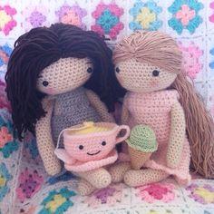 My crochet doll crocheted dolls.mijn gehaakte pop gehaakt door mani di Anne /Annemarie Evers