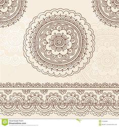 henna border designs drawings - Google Search