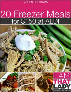 6th ALDI Meal Plan - 20 Freezer Meals for $150 {Gluten-Free Adaptable}
