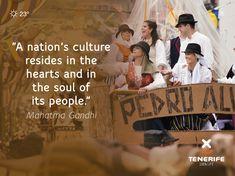 """""""La cultura de una nación reside en los corazones y almas de su gente."""" Mahatma Gandhi. Romería, Tenerife, Islas Canarias // """"A nation's culture resides in the hearts and in the soul of its people."""" - Mahatma Gandhi. Canary Islands // """"Die Kultur einer Nation liegt in den Herzen und in der Seele ihres Volkes."""" - Mahatma Gandhi. Teneriffa, Kanarische Inseln  #VisitTenerife Mahatma Gandhi, Canary Islands, In The Heart, Pilgrimage, Den, Hearts, People, Life, Frases"""