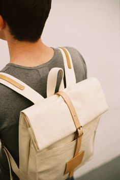 SALE: up to 30% off! Top Roll Rucksack Off White