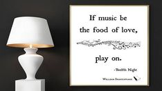 William Shakespeare Print If Music Be the Food of Love Play
