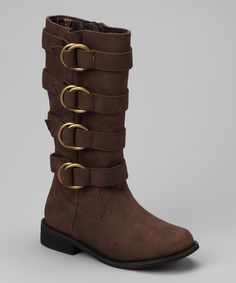Take a look at this Brown Jaguar Boot by Fashionable Footprints: Girls' Boots on #zulily today!