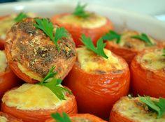 Tomate Recheado com Ricota - Veja mais em: http://www.cybercook.com.br/receita-de-tomate-recheado-com-ricota.html?codigo=13671