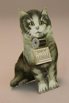 """mechanical"" 1904 calendar trade card."