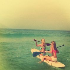 Summer fun paddle boarding